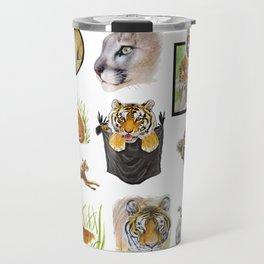 Big Cat Sticker Pack 1 Travel Mug