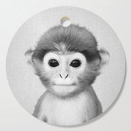 Baby Monkey - Black & White Cutting Board
