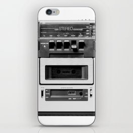cassette recorder / audio player - 80s radio iPhone Skin