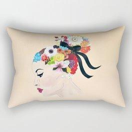 FLOWERS IN HER HAIR Rectangular Pillow