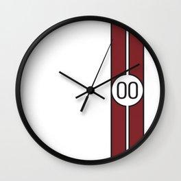 racing stripe .. #00 Wall Clock