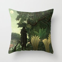 "Henri Rousseau ""The Snake Charmer"", 1907 Throw Pillow"
