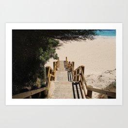 Beach Steps Art Print