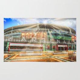 Arsenal Football Club Emirates Stadium London Sun Rays Rug