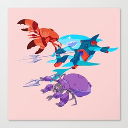 Battle Beasts - trio 9 Canvas Print