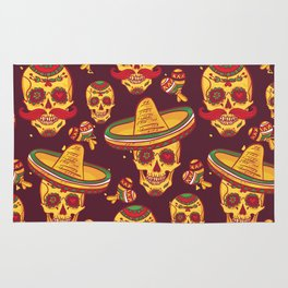 Day Of The Dead Gringo Rug