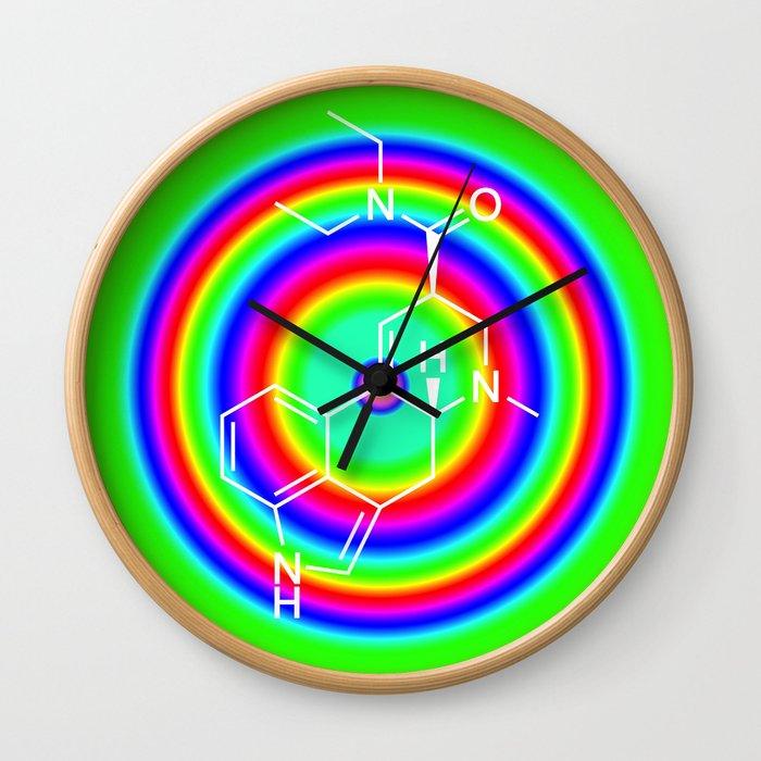 LSD rainbowdrops Wall Clock