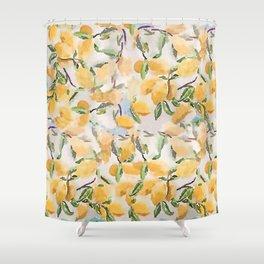 Watercolor Lemons Shower Curtain