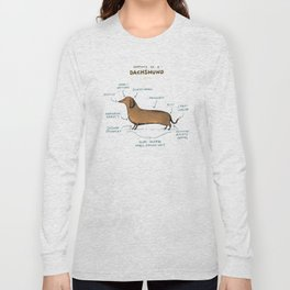 Anatomy of a Dachshund Long Sleeve T-shirt