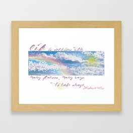 Delicious Life Framed Art Print