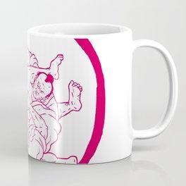 Samurai Jui Jitsu Fighting Enso Drawing Coffee Mug