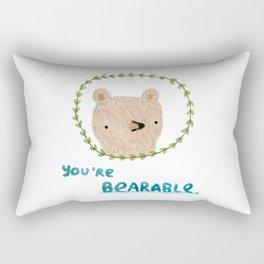 Bearable Bear Rectangular Pillow
