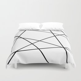 Lines in Chaos II - White Duvet Cover
