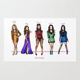 Fifth Harmony: Color names Rug