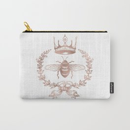 Queen Bee in Rose Gold Pink Carry-All Pouch