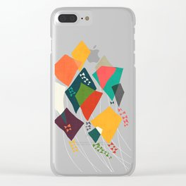 Whimsical kites Clear iPhone Case
