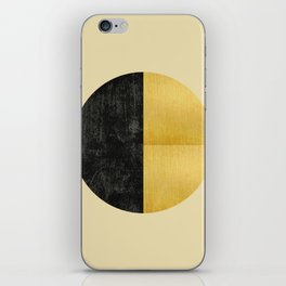 Black and Gold Circle 03 iPhone Skin