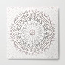 Taupe Mandala Metal Print