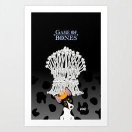 Game of Bones Art Print