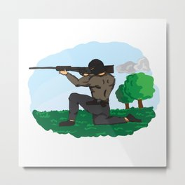 Sniper Paint Metal Print