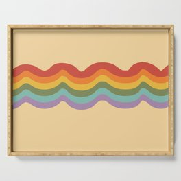 Rainbow Stripe 3 Serving Tray