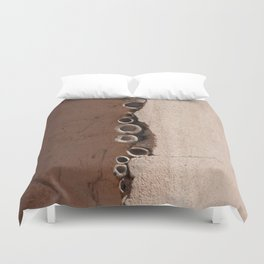 rotated rustic roof Duvet Cover