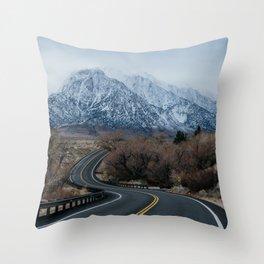 Blue Mountain Road Throw Pillow