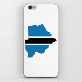 botswana flag map iPhone Skin