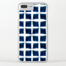 Shibori Blocks Clear iPhone Case