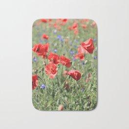poppy flower no9 Bath Mat