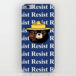 "Smokey says, ""Resist"" iPhone Skin"