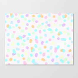 Fun Splodges of Color Canvas Print