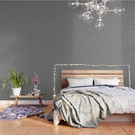 Black and White Clamshell Pattern Wallpaper