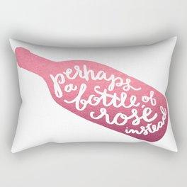 bottle of rosé Rectangular Pillow