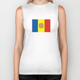 Andorra country flag Biker Tank