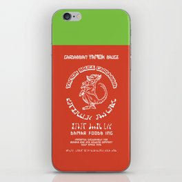 Pass The Yamok Sauce (Opaque Red Ver) iPhone Skin