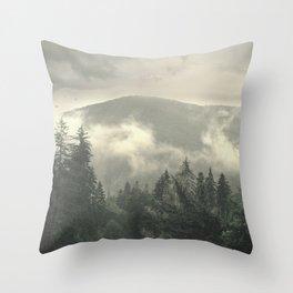 Carpathian Mountains - Transylvanian Alps Throw Pillow