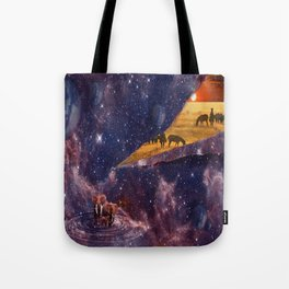 Earth Tears Into Space Tote Bag