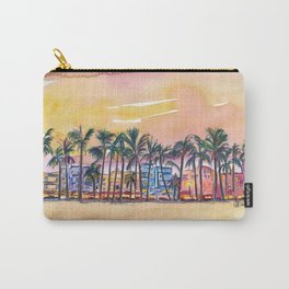 Miami Florida Ocean Drive Lights with Vanilla Sky Carry-All Pouch