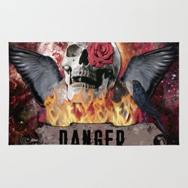 DANGER ROCK SKULL Rug