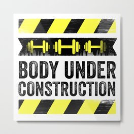 Body Under Construction Metal Print