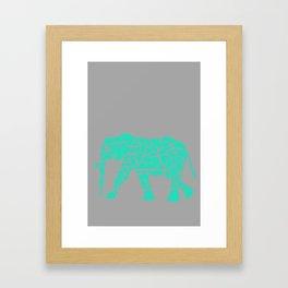 Geometric Safari: Elephant Framed Art Print