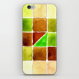 Color Chart - Quinacridone Burnt Orange DS and Phthalo Yellow Green DS iPhone Skin