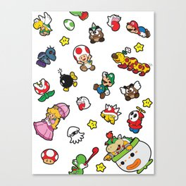 It's a really SUPER Mario pattern! Canvas Print