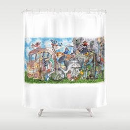 Ghibli Compilation Shower Curtain