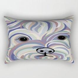 Yorkie Denim Colors Rectangular Pillow