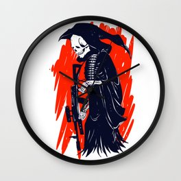 Military skeleton - grim soldier - gothic reaper Wall Clock