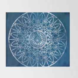 Fire Blossom - Blue Throw Blanket