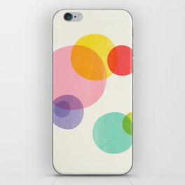 Rainbow Bubbles iPhone Skin