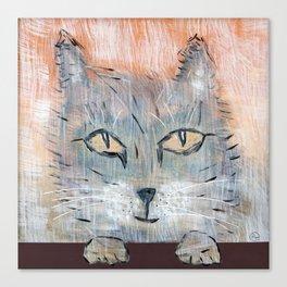 Raggedy Cat Canvas Print